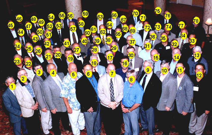 numbered picture of reunion 2003